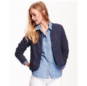 Quilted Open Front Jacket